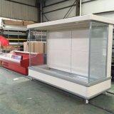 Abrir refrigerada mostrador de exposición Multideck Vertical congelador para frutas y hortalizas