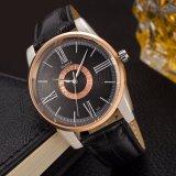 La montre-bracelet en cuir 3ATM de la qualité 377 imperméabilisent la montre d'hommes de Yazole