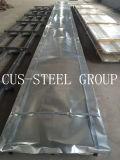Revestimento do Teto Acabamento galvanizado/Folhas de coberturas metálicas com perfil