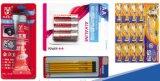 Los juguetes de marca Qibo Cepillo de Dientes pintalabios Papercard Máquina de embalaje blister