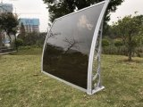 Deck exterior de alumínio toldo de metal com folha de sólidos de policarbonato de alta resistência
