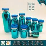 Frasco de vidro tubular de galvanoplastia UV colorido com