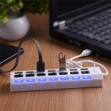 USB 2.0 заряжателя 7 эпицентров деятельности USB портов высокоскоростной