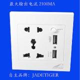 Многофункциональный белого цвета с 5 контактами 2 Зарядные устройства USB