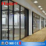 Дверь стеклянной перегородки рамки высокого качества съемная алюминиевая