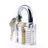 Прозрачный Padlock практики с инструментами Lockpicking ножа Hh складывая (комбинированное 5)