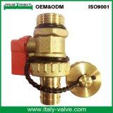 Valvola a sfera d'ottone nichelata dello scolo di qualità di OEM&ODM (AV1050)