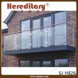 Sistema de barandilla de vidrio de acero inoxidable en barandilla de terraza (SJ-H930)