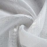 Tissu fin de rideau de type en voile de toile moderne de jacquard (18F0111)