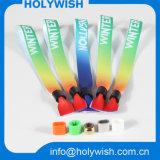 Wristbands modificados para requisitos particulares a todo color de la entrada del paño del fabricante del Wristband