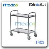 Chariot en acier inoxydable de l'hôpital Instrument T403