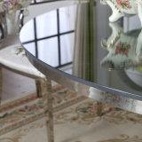 Diseño moderno de acero inoxidable redonda mesa de comedor y una silla fija