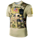 Le loup asservit T-shirt militaire tactique extérieur de Camo de python