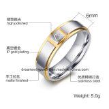 Anillo de acero masónico de la máquina del CNC del anillo de la venta de Ebay del color caliente del oro