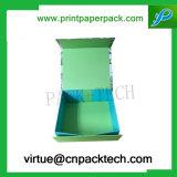Anunció el rectángulo de regalo plegable cuadrado rígido del almacenaje del guante de la impresión de la cartulina