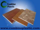 Placa/folha plásticas da espuma do PVC da madeira compensada