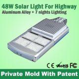 Indicatore luminoso di via solare di nuovo alto potere 48W tutto in una radio di illuminazione della strada principale