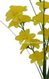 Única haste flor artificial/plástica/de seda do Daffodil (XF30018)