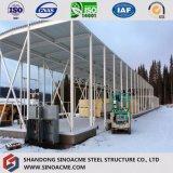 Oficina isolada Prefab do painel da construção de aço em Rússia