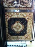 Плитки ковра пола фарфора гостиницы Polished золотистые кристаллический