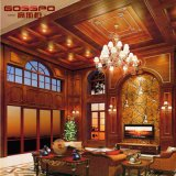 Impermeables y resistentes al fuego pared de madera paneles de revestimiento (GSP9-074)