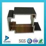 Profil en aluminium d'extrusion en aluminium de bâti de Windows de 6063 portes T5 avec anodisé