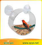 Acrílico transparente colgar comedero para pájaros
