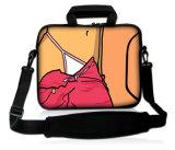 "Karikatur-Muster 17 "" 17.3 "" Neopren-Laptop-tragender Beutel-Hülsen-Kasten-Deckel + Schultergurt"
