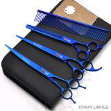 Impresión en color Herramientas para mascotas Grooming Cutter Dog Hair Scissors
