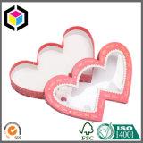 قلب شكل صلبة ورق مقوّى ورقة هبة شوكولاطة يعبّئ صندوق