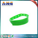 Wristband descartável do vinil do PVC RFID do plástico da freqüência ultraelevada da indústria dos cuidados médicos das conferências