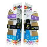 Pappfußboden-Ausstellungsstand-Knall-Pappbildschirmanzeige mit Haken