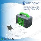 10W portátil de tamaño mini sistema de iluminación verde Solar