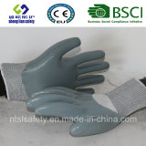 Coque en polyester 13G avec gants de travail en nitrile (SL-N116)