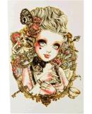 Autoadesivo provvisorio impermeabile di arte di corpo dell'autoadesivo del tatuaggio della ragazza gotica