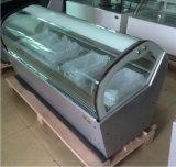 Sorvete de iluminação LED Gelato Exibir congelador com marcação (F-QV680A-W)