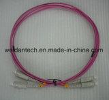 Câble fibre optique duplex à plusieurs modes de fonctionnement de Sc-Sc millimètre Dx Om3 50/125u 3.0mm
