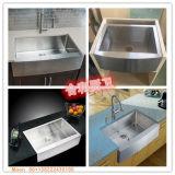 Bassin fabriqué à la main de ferme de tablier d'acier inoxydable, bassin de cuisine, bassin d'acier inoxydable
