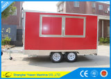 Ys-Fv390b 3.9m Red High Quality Sandwich Panel Hot Dog Cart Catering Vans for Sale