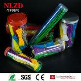 Un assortiment de attache de câble attache 1200 pcs/jar de couleur différente mixte