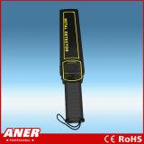 Inspeção de segurança Super Scanner 9V Alarme de luz de som Detector de metais com mão boa para tocar