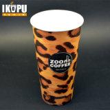 Одностеночная бумажная кофейная чашка с крышкой