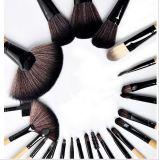 24PCS専門の構成のブラシセットは用具を使う袋が付いている化粧品の馬のヘア・ブラシキットに作る
