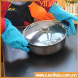Resistente ao calor de forma cardíaca Grau Alimentício luvas de cozinha de Silicone