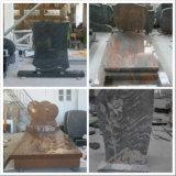 Pietra tombale europea del granito del nero di stile