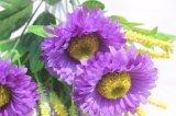 Flores de la falsificación del crisantemo de las flores artificiales para la decoración del hogar de la boda