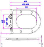 Super dünner flacher moderner hoch entwickelter Toiletten-Sitz