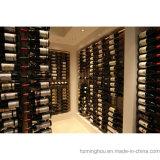 Decoração para casa Prata de vinho de metal montada na parede Adega de vinhos