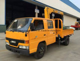 Dubbele Cabine Jmc 2 van de Boom Ton van Vrachtwagen 6 van de Kraan Wielen vrachtwagen-Opgezette Kraan