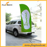 De reclame van Vlag van het Strand van de Druk van het Aluminium de Digitale Draagbare/het Vliegen van Vlag